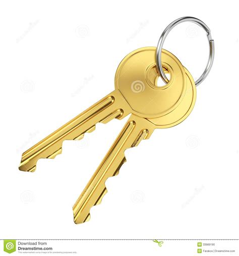 two golden door keys stock photo image 33989190