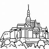 Mont Michel Saint Coloring St France Clipart Pages Petersburg Drawings Clipground Thecolor sketch template