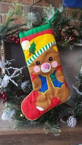 Vintage, Bear, Christmas, Stocking, Childs, Baby, Stocking, Vintage