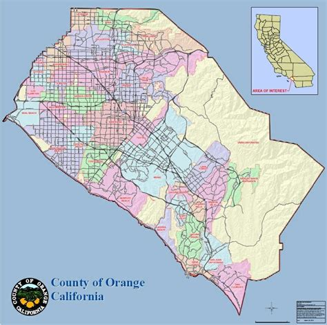 orange county maps enjoy oc