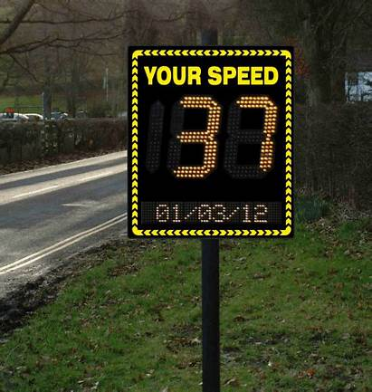 Speed Radar Sign Signs Activated Line Text