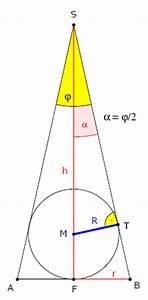 Radius Einer Kugel Berechnen Wenn Volumen Gegeben Ist : mp forum minimales volumen eines kegels der einer kugel umbeschrieben ist matroids matheplanet ~ Themetempest.com Abrechnung