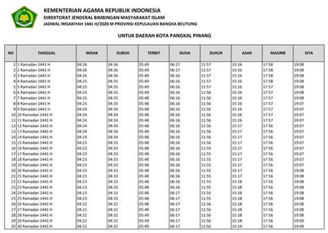 jadwal puasa ramadhan  lengkap jadwal sholat
