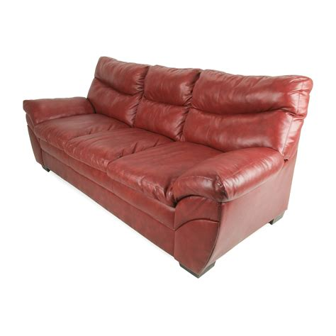 57 Off Modern Red Leather Sofa Sofas