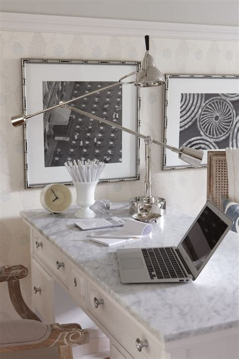 White Desk with Marble Top