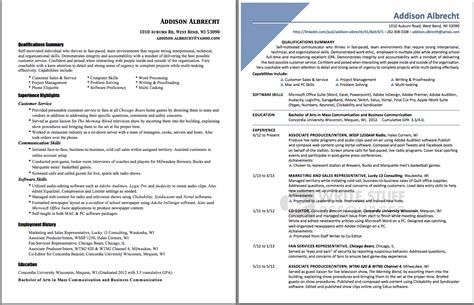 student resume before after write stuff resources