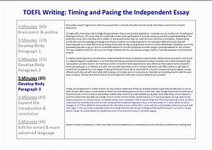 toefl ibt essay writing timing and pacing for the With toefl writing template independent