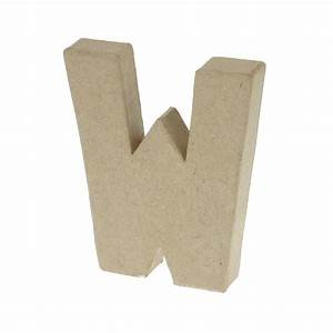 paper mache small letter w 10cm high x 2cm thick With small paper mache letters