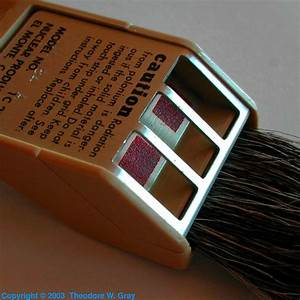Antistatic brush, a sample of the element Polonium in the ...
