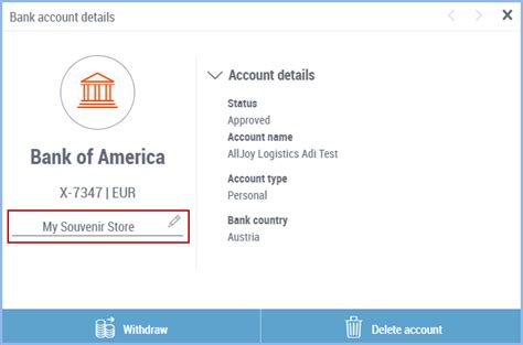 bank nickname accounts local manage payoneer want type change already ve added