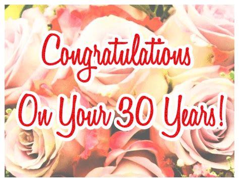 Happy 30th Wedding Anniversary (pearl Anniversary) Ecards Greetingsharecom