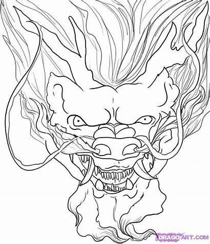 Dragon Chinese Head Draw Coloring Faces Face