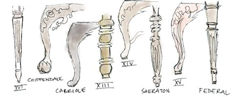 Types Of Chair Legs by Lessons In Design A Look At And Style