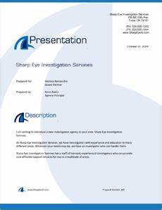 How To Write A Business Plan Sample Eye Investigation Services Sample Proposal 5 Steps
