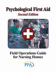 Pdf  Psychological First Aid Field Operation Guide For