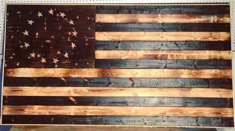 diy wood burned american flag modern builds ep
