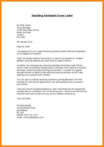 Assistant Exle Cover Letter by Teaching Assistant Cover Letter Exle 28 Images