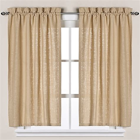 soho linen bath window curtain tier pair