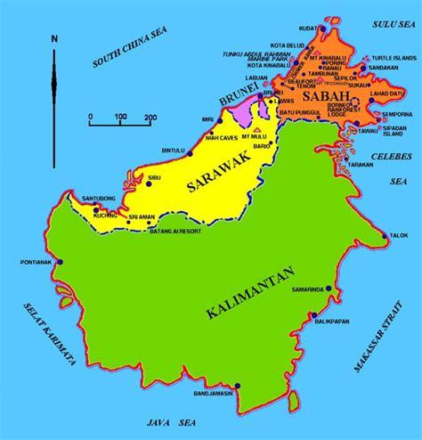 map  borneo   borneocom