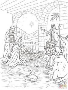 disegno di i pastori vanno a incontrare ges 249 bambino da
