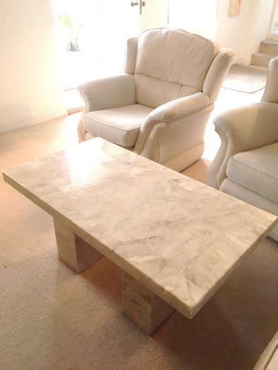 Cream Marble Coffee Table Caseys Cork For Sale In Leap