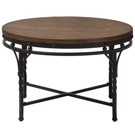 round industrial coffee table industrial round coffee table in coffee tables