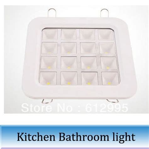 10pcs 16w bright led kitchen bathroom ceiling light