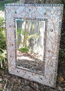 large mosaic mirror lovely copper white and bronze