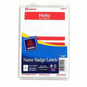 avery red hello name badge label 2 11 32quot x 3 3 8quot 4x6 With 4x6 laser labels
