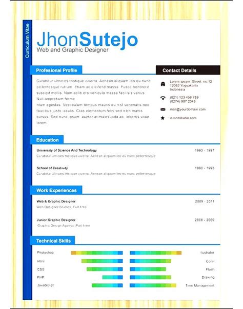 professional one page resume free sles exles