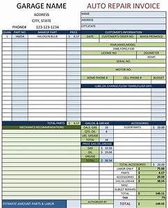Auto repair invoice template invoice example for Auto repair invoice template word