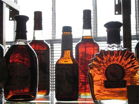 beautiful collection  bourbon   variety  bottles