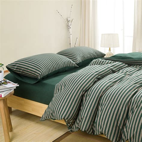 high quality duvet covers high quality 100 cotton knitted fabric stripe duvet