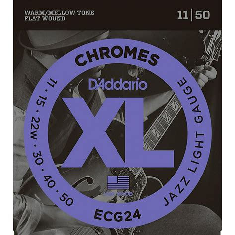 d addario xl chromes jazz light electric guitar strings