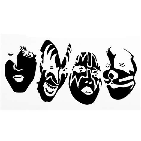 Kiss Band Faces Die Cut Vinyl Decal PV196