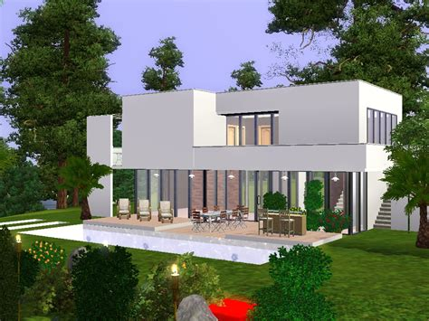 sims 3 maison moderne maison moderne de luxe sims 3 chaios