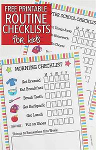 Morning Routine Printable Chart Kids Routine Checklists To Make School Days Easy Morning