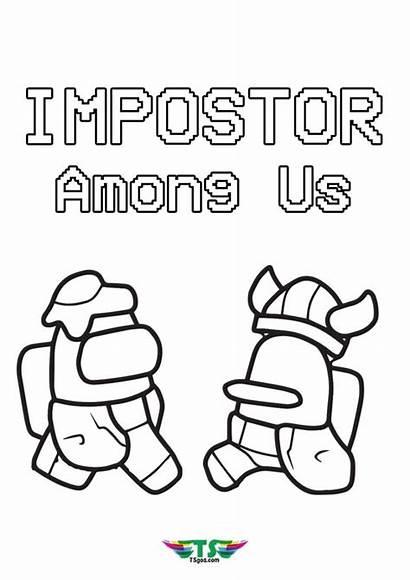 Impostor Among Fight Coloring Tsgos