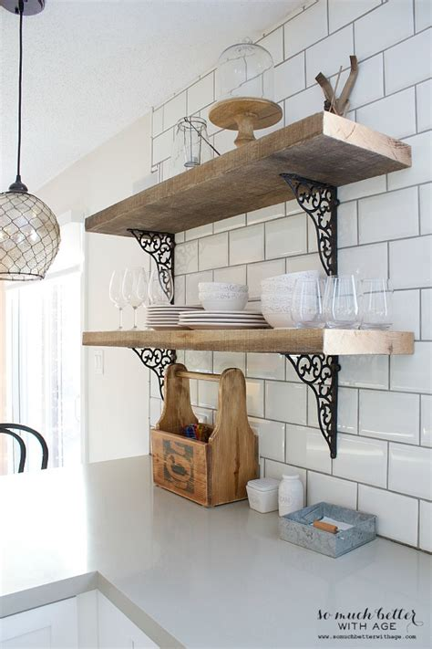 open shelving  upper cabinets     age