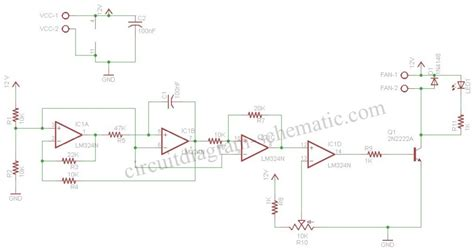 Pwm Motor Controller Fan Speed Automatically Using Amp