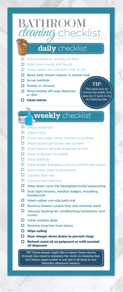 ultimate bathroom cleaning checklist style  home