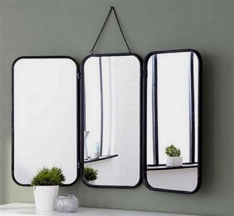 grand miroir triptyque de barbier 224 accrocher vintage 233 es 60 en 2019 salle de bain map