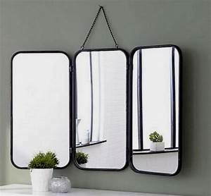 Grand Miroir Vintage : grand miroir triptyque de barbier accrocher vintage ann es 60 pinterest miroir triptyque ~ Teatrodelosmanantiales.com Idées de Décoration