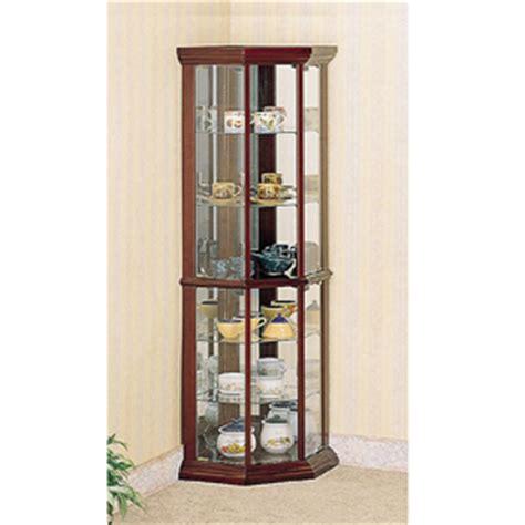 cherry wood curio cabinet corner curio cabinet solid wood corner curio cabinet in