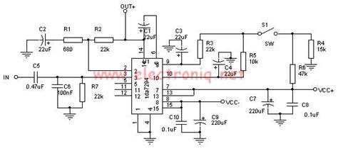 Tda Watt Amp Power Amplifier Circuit Electronic