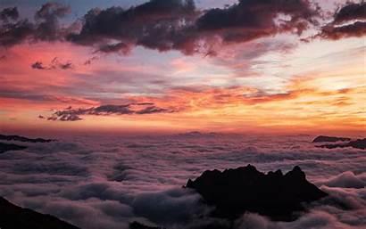 Golden Clouds Macbook Sea Aerial Mac Pro