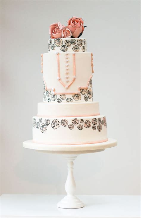 20 Deliciously Decadent Art Deco Wedding Cakes Chic
