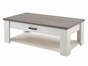 Table Basse Industrielle Avec Tiroir : table basse rectangulaire avec 1 tiroir et 1 niche ~ Teatrodelosmanantiales.com Idées de Décoration