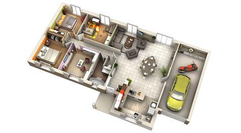 plan maison bois plain pied 4 chambres plan maison contemporaine durian plate villas