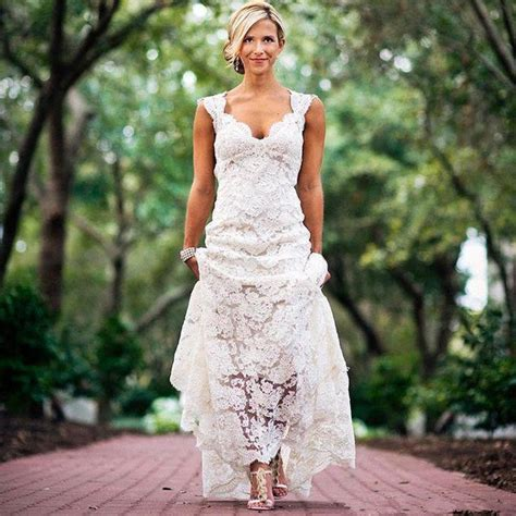 lace country wedding dresses pretty floral lace rustic wedding dresses v neck cap sleeve country style lace wedding dress